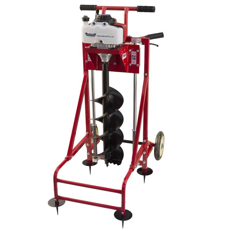 MAC-AFRIC 68 cc Earth Auger Drill (free standing) - DRIVE UNIT ONLY