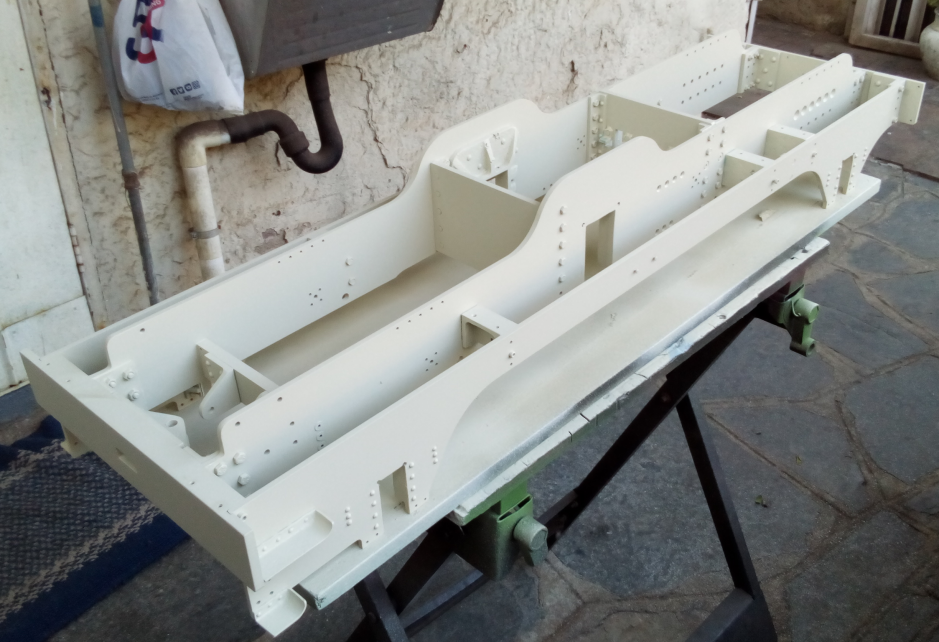 Figure 2: The main frame primed and ready for the next coat