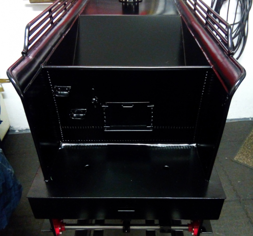 Figure 3: Front part of tender, painting completed