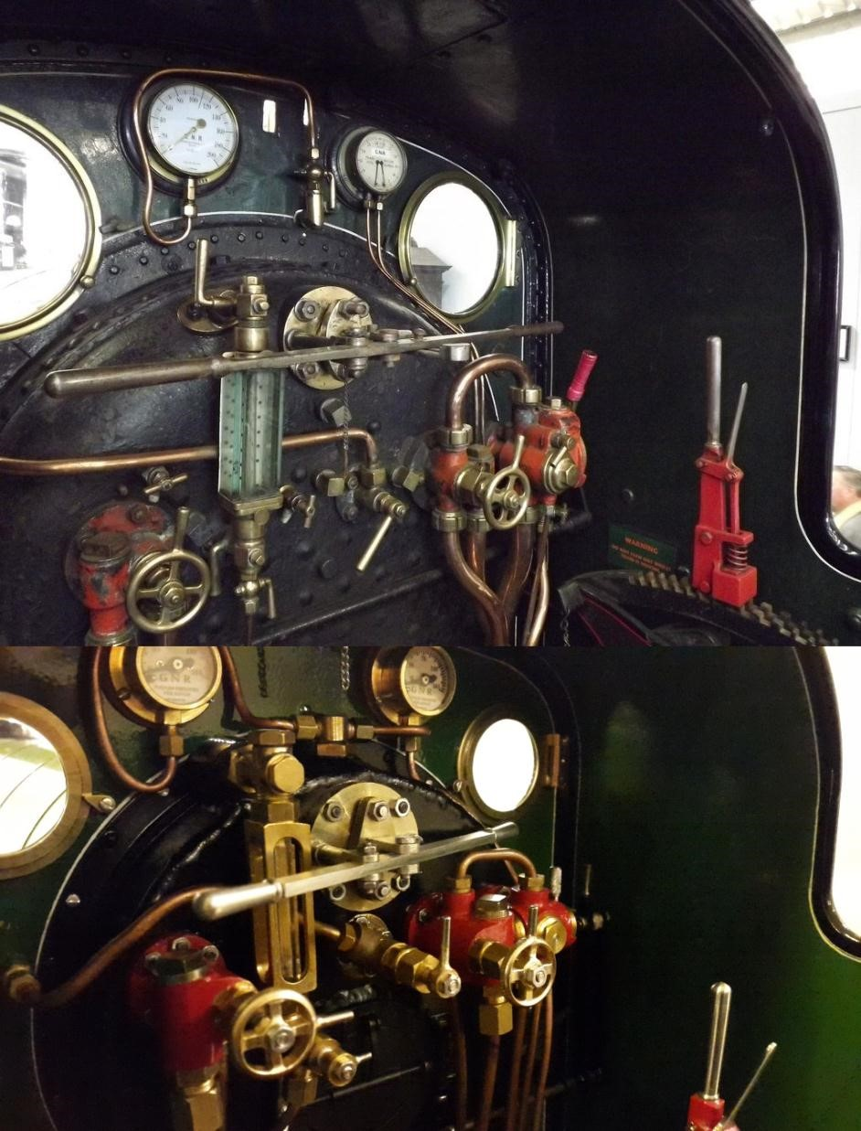 Figure 9: The backhead as viewed from the footplate (what the driver would see)
