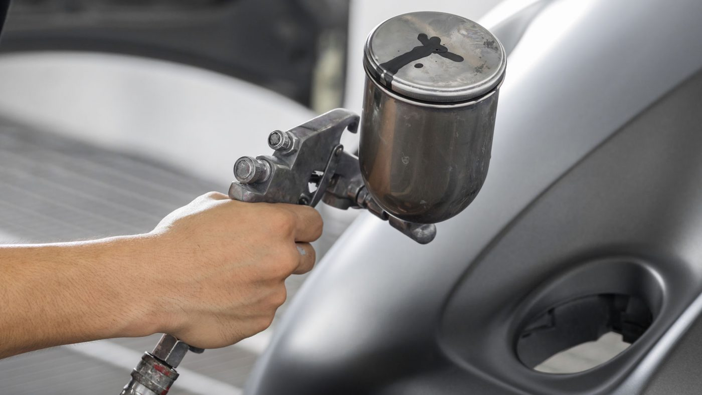 HVLP Spray Guns are most commonly used when spraying car panels or smaller touch-up jobs.